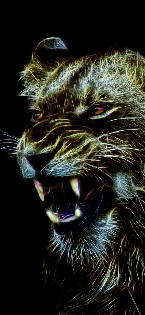 Best predator wallpaper, desktop background for any computer, laptop, tablet and phone. Angry lioness, predator, art, muzzle, 1125x2436 wallpaper | Animal wallpaper, Predator art ...