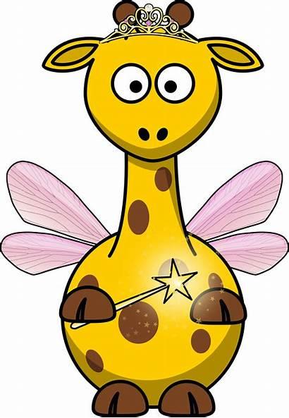 Giraffe Clipart Clip Cartoon Fairy Funny Animal