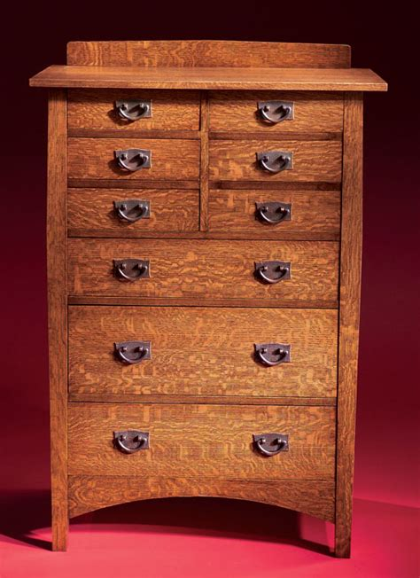 mission style chest of drawers diy mission chest of drawer plans plans free