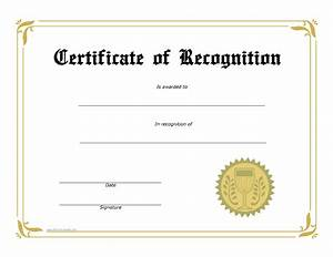 free certificate of recognition templates at With free template for certificate of recognition