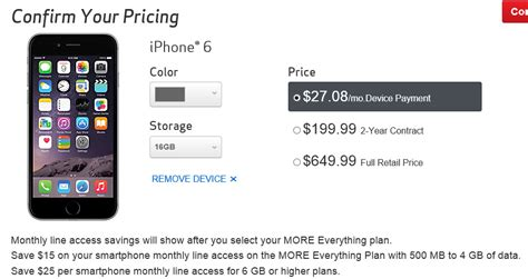 iphone 6 upgrade cost 2 years on verizon at t 187 say bye bye to 199 iphones at verizon