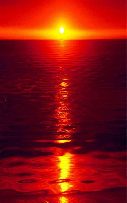 Sunset Ocean Sea Mysterious Touch There Aesthetic
