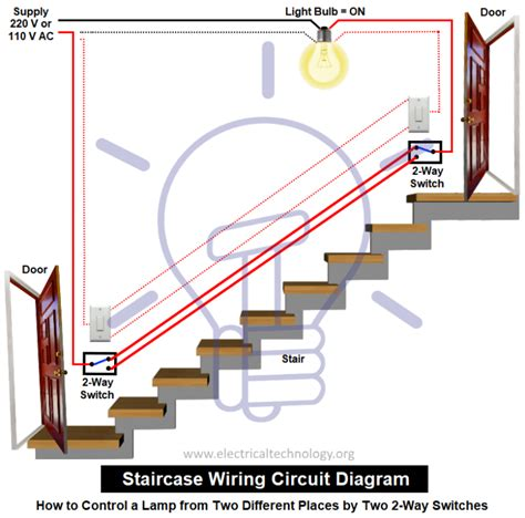 Circuit Diagram For Staircase Wiring by Staircase Wiring Circuit Diagram How To A L