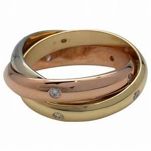 Bague 3 Ors Cartier : bague cartier mod le trinity 3 ors et diamants ~ Carolinahurricanesstore.com Idées de Décoration