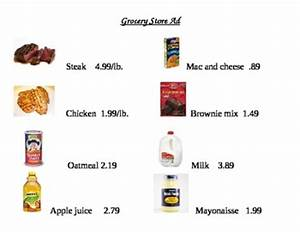 Grocery List Price Calculator Grocery Store Ad Math Worksheets By Smartjules Tpt