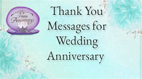 Thank You Messages For Wedding Anniversary