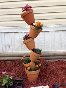Tilted, Flower, Pots