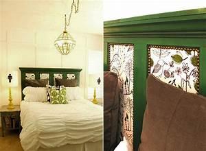 Schlafzimmer ideen fur bett kopfteil selber machen for Schlafzimmer in grün gestalten
