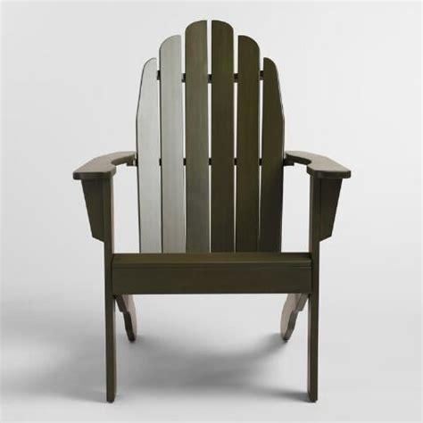 olive green adirondack chair world market