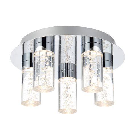 hubble bathroom chrome effect ceiling light departments diy at b q lights bathroom