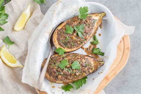 cuisine aubergine eggplant stuffed with lemon cuisine addict