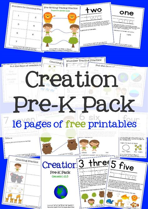 creation bible story for preschoolers activity pack 794 | creation prek pack pinterest