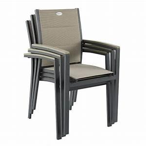Chaise Et Fauteuil De Jardin : fauteuil de jardin empilable azua taupe anthracite chaise et fauteuil de jardin eminza ~ Teatrodelosmanantiales.com Idées de Décoration