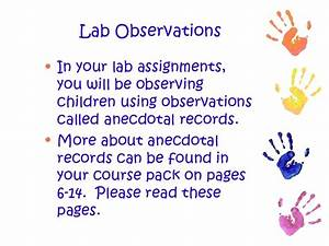 child observation assignment