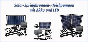 Solar Teichpumpe Mit Akku Und Filter : solar teichpumpen mit akku und led ~ Eleganceandgraceweddings.com Haus und Dekorationen