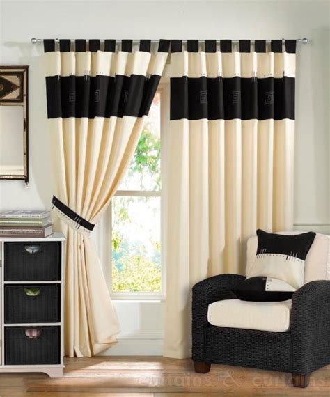 black ivory curtains furniture decor curtains