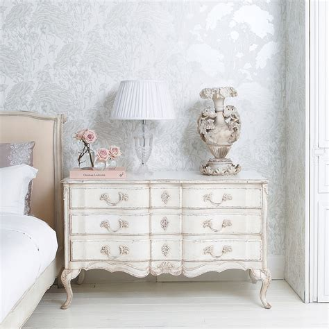 shabby chic company delphine white painted chest of drawers french bedroom company