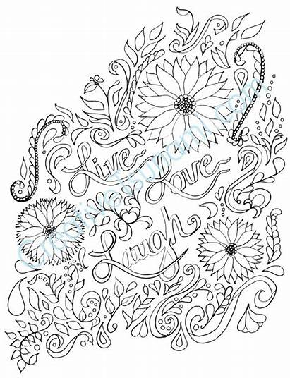 Coloring Pages Adult Laugh Adults Printable Colouring