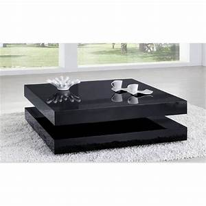 Table Basse Noir : table basse laqu e noir charlene achat vente table basse table basse laqu e noir cdiscount ~ Teatrodelosmanantiales.com Idées de Décoration