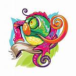 Skool Lizard Chameleon Vector Tattoo Colorful Tattoos