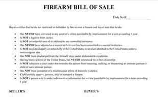 bill  sale template