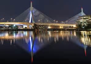 Boston Zakim Bridge at Night