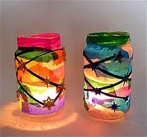 Teelichter Basteln Mit Kindern : teelichter aus gl sern und seidenpapier weihnachten basteln meine enkel und ich ~ Markanthonyermac.com Haus und Dekorationen