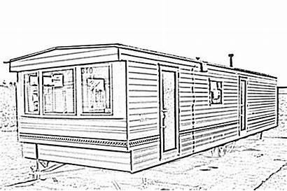 Mobile Clipart Sketch Trailer Homes Motorhome Clip