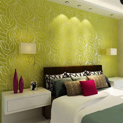 gallery wallpaper living room green