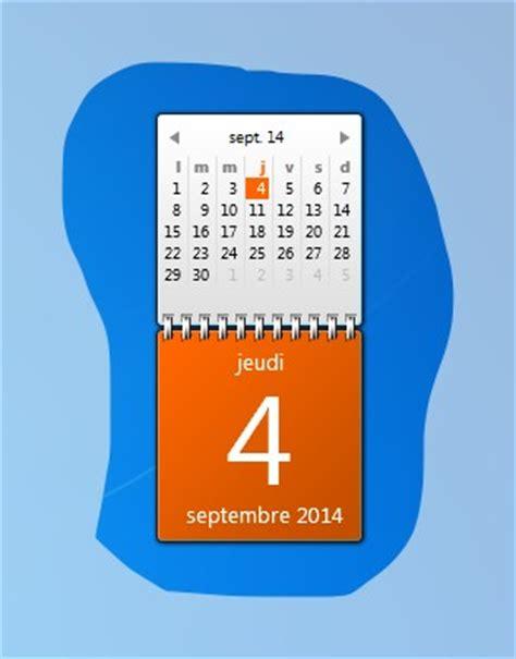 calendrier sur le bureau windows 7 ajouter le calendrier sur votre bureau windows 7