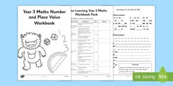 Year 3 Maths Number Place And Value Workbook  Number And Place