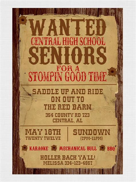 Love This Western Themed Party Wording! You Could Try