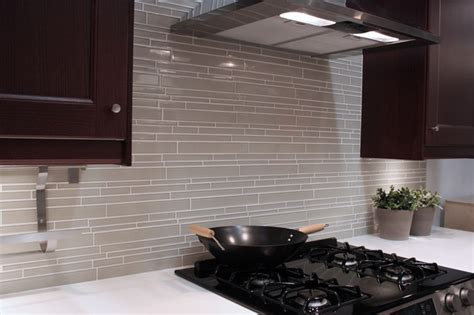 modern kitchen backsplash tile light taupe linear glass mosaic tile backsplash modern kitchen vancouver by rocky point tile