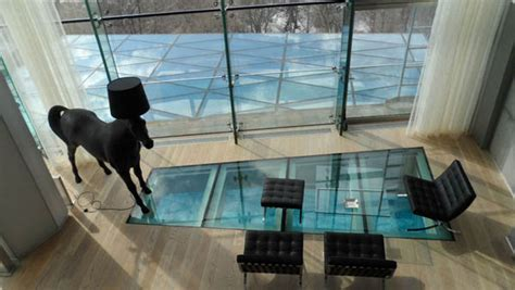 beautiful glass floors  add  special charm