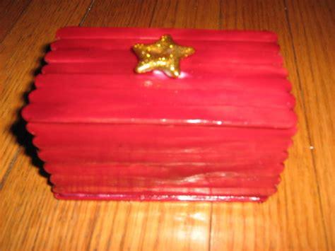 gift box  popcycle sticks  popsicle stick box
