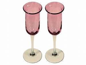 Flûtes à Champagne Originales : fl tes champagne artisanales en verre rose pour d guster ~ Teatrodelosmanantiales.com Idées de Décoration