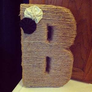 crystal cattle diy jute monogrammed wedding letter With jute letters