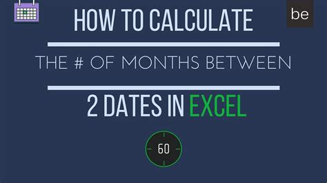 calculate number months excel youtube