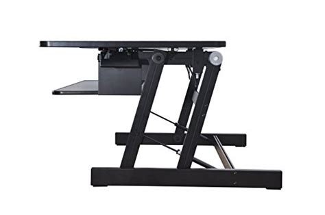 lorell sit to stand desk riser lorell llr99759 deluxe ergonomic sit to stand monitor