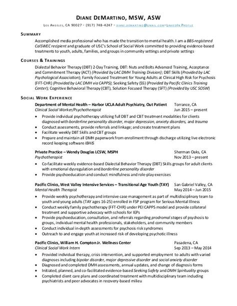 clinical social worker resume examples lascazuelasphillycom
