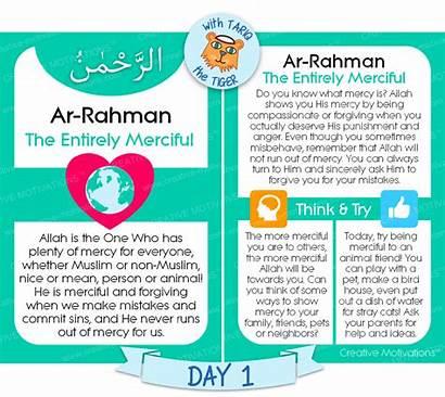 Allah Names Rahman Ar Activities Teaching Islam