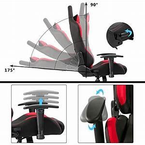Merax Gaming Stuhl : merax schreibtischstuhl gamingstuhl b rostuhl sportsitz ~ Watch28wear.com Haus und Dekorationen