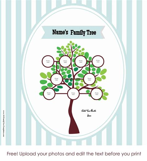family tree poster customize   print  home