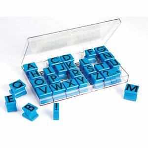 educational insights alphabet rubber stamps uppercase 5 8quot With alphabet letter stamps
