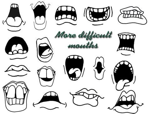 draw cartoon mouths