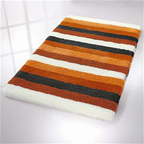 bilbao striped bath rug  thick pile
