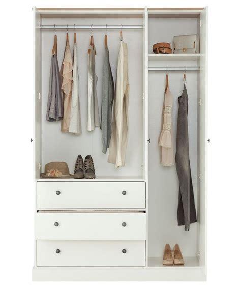 Buy White Wardrobe buy kensington 3 door 3 drawer wardrobe oak effect
