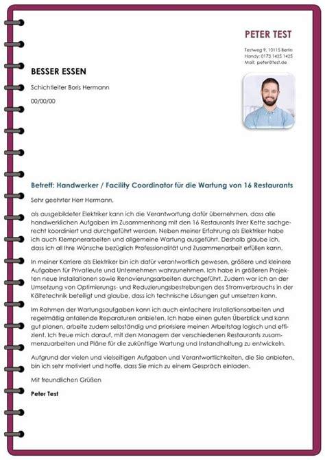 handwerker facility coordinator mw cv bewerbung