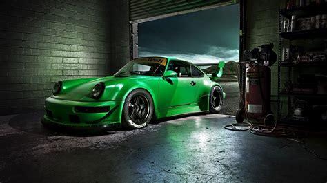 green porsche carrera  hd wallpaper  cars wallpapers