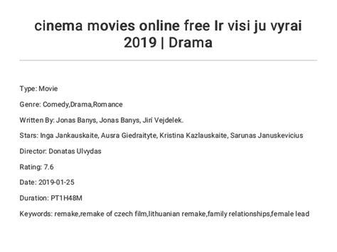 cinema movies   ir visi ju vyrai  drama